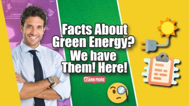 """Image text: """"Facts about Green Energy""""."""