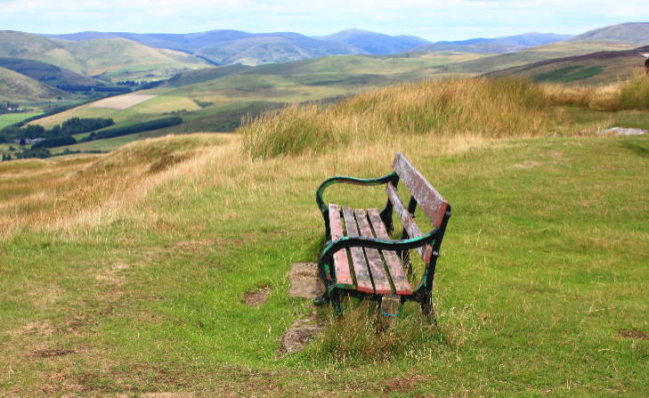 Scottish border view, Scotland South.