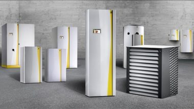 Heat pump units of varying sizes, for home heat pump conversions.